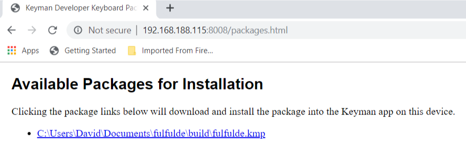 DeveloperPackageInstallation