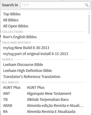 BibleSearch BiblesDropdown